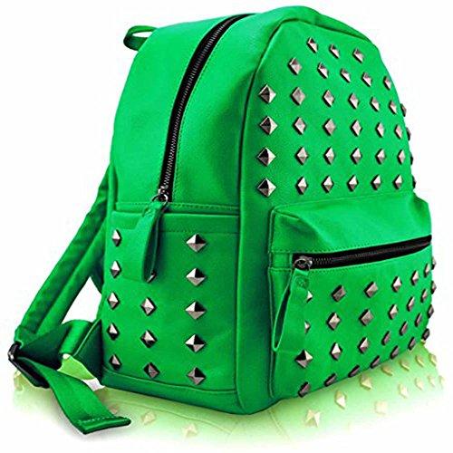 TrendStar Greeniris Damen Mode Rucksack Kunstleder Rucksack für Frauen/Mädchen im Teenageralter Vert3