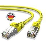 AIXONTEC® I Netzwerk-Kabel Cat6 12m Gelb Patch-Kabel Ethernet-Kabel Powerlan Gigabit Ethernet Kupfer pimf Twisted-Pair-Kabel rj45 Kabel I Switch Router Server PC Laptop Scanner Access Point Modem
