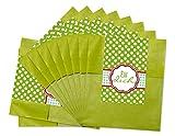 25 Stück grüne Papiertüten Geschenktüten Geschenk-Verpackung Aufkleber; Für Dich … ein liebevolles Gastgeschenk oder Mitgebsel (Größe der Tüte offen: 9,5 x 14 cm + Lasche 2 cm)