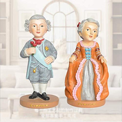 AZXC Skulptur Harz Handwerk Dekoration Französisch Klassischen Nationalen Kostüm Charakter Cartoon Dekoration (EIN Paar) (Kostüme Nationalen Parfüm)