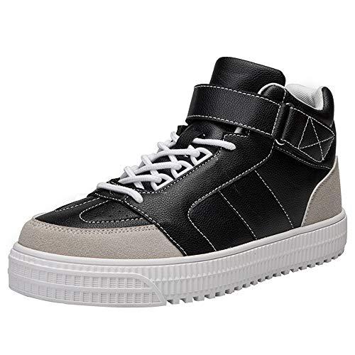 Fantaisiez Bottes Homme Cuir à Lacets Confortable Botines Moyennes Fond épais Botte Hommes Décontractée Ankle Boot Mode Booties Chaussures Hiver Automne