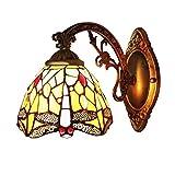 Lámpara de Pared Decoración Tiffany Lamp Vintage Iluminación de Pared en Tonos Naturales Metal Vidrio Interiores salón Hotel Junto a la cama Dormitorio Corredor Pasillo Espejo Balcon 20 * 16CM E27