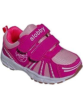 GIBRA® Kinder Sportschuhe, mit Klettverschluss, pink/silber, Gr. 22-27