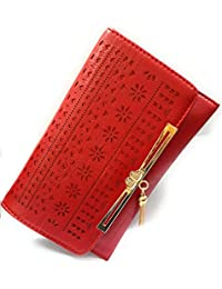 Lavish Hand Work Design Luxury Look Soft Lether Clutch Purs To Carry Your Mobile And Hand Purs Items Etc. (Red...