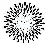 Mudo reloj de pared salón reloj de pared decorativos de hierro forjado de diamante largo alcance reloj de pared reloj grande creativa JT1301