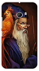 Crazy Beta Pirates of dumbledore of harry potter with his fire bird and magic stick Printed mobile back cover case for HTC Desire 10