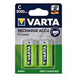 Varta Power Accu 3000 mAh Ready2Use Rechargeable C Batteries - 2-Pack
