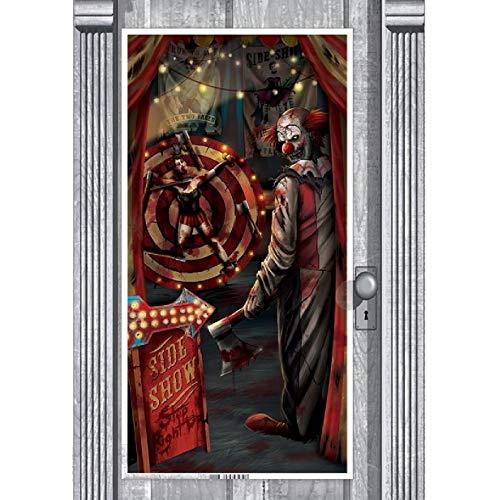 Clown Circus Wall Premium Door Banner Halloween Szene Setter Party Dekoration ()