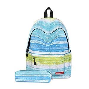FANDARE Mochila Galaxy Mochilas Tipo Casual Bolsas Escolares Niña Niño Bolsa de Viaje Bolsos de Mujer Adolescente School Bag Outdoor Viaje Infantiles Daypack Poliéster Azul