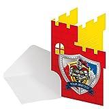 Ritter Einladungskarten für Ritterparty Mottoparty Kindergeburtstag 8 Stück Palandi®