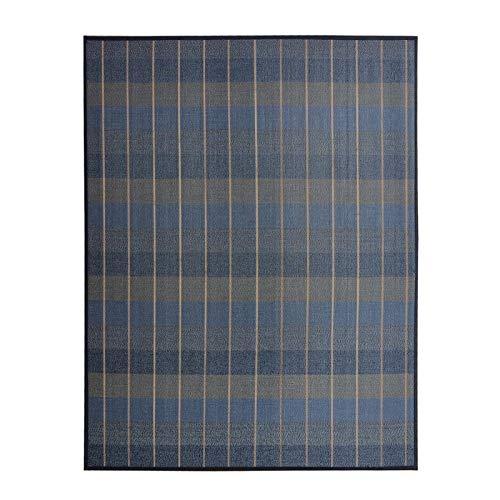 Hogar y Mas Alfombra de Salón o Comedor, Azul, de Bambú Natural de 140 x 180 cm Natur, 140x180