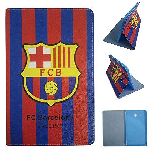 Galaxy Tab 4 10,1 pulgadas Fundas, Real Madrid Barcelona Chelsea Liverpool Arsenal Fútbol Équipe Voltear Cuero De la PU Funda para Samsung Galaxy Tab 4 10,1 pulgadas SM T530 / SM T531 / SM T535 (Galaxy Tab 4 10,1 pulgadas SM T530, FC Barcelona)