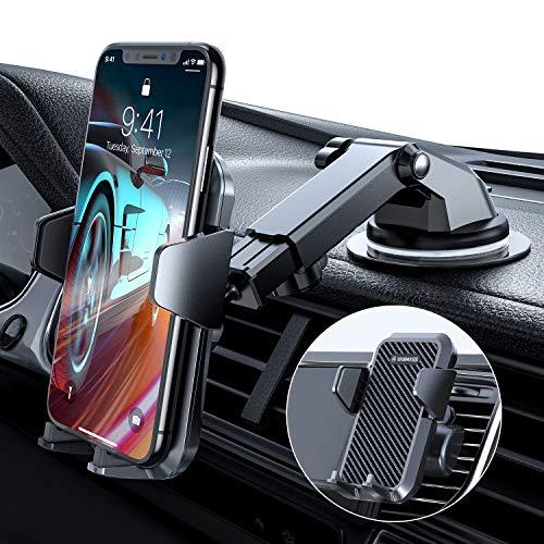VANMASS Handyhalterung Auto Handyhalter fürs Auto 3 in 1 Kfz Handy halterung Lüftung & Saugnapf Halter 100% Silikon Schutz Smartphone Halterung Auto für iPhone Samsung Huawei Mate LG (Upgrade Version)