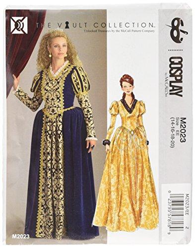 Cosplay von McCall 's Cosplay M2023EE, bodenlang Kleid mit Puffärmeln, Größen 14–20, (Costumes Mccall's)