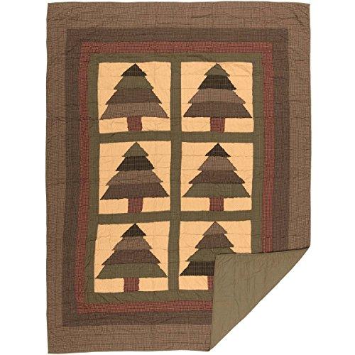 VHC Brands Rustic & Lodge Steppdecke, für Doppelbett, Grün -