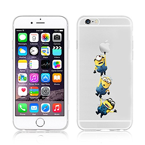 Coque souple pour Apple iPhone 4/4S, 5/5S/SE, 5 C, 6/6S et 6 Plus Motif Minion, plastique, 3 MINIONS, Apple iPhone 5c