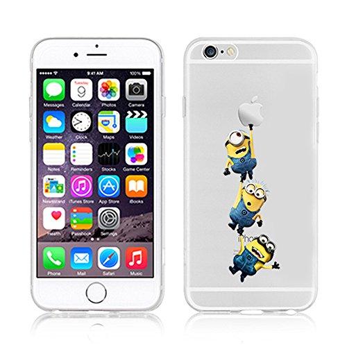 Coque souple pour Apple iPhone 4/4S, 5/5S/SE, 5C, 6/6S et 6Plus Motif Minion, plastique, 3 MINIONS, Apple iPhone 4