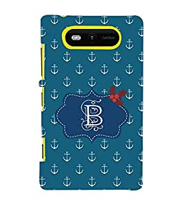 EPICCASE anchor of B Mobile Back Case Cover For Nokia Lumia 820 (Designer Case)