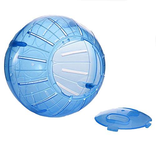 Jannyshop Kleintier Laufball Kunststoff Jogging Ball Hamster Spielzeug Ball transparent/blau/pink