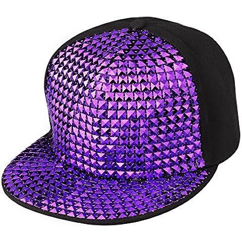 Berretto con Visiera Estivo – LATH.PIN Cappellino da Baseball Donna Sole Spiaggia Cappelli Rock Punk Rivetto Hip Hop Bombetta