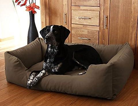 Knuffelwuff Lit pour chien Dreamline L -XL 105cm x 75cm Marron