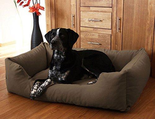 hundeinfo24.de Knuffelwuff 12623 Hundebett Dreamline – Größe XXL 120 x 85cm, braun