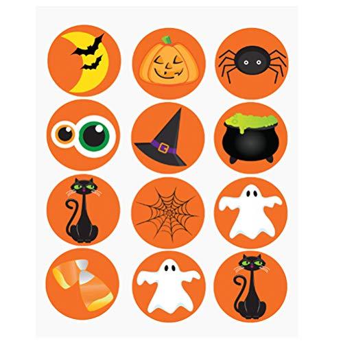 Halloween Aufkleber Halloween kürbis spinne Fledermaus Geist Party DIY Dekorationen Label abdichtung Parteien Geburtstage gastgeschenke Handwerk Schule ()