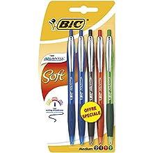 Atlantis Soft BIC Ballpoint pens - Matching Colours, Blister of 5