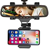 CEUTA® Car Rear View Mirror Mount Holder, 360° Car Mount Holder, Freal Universal Smartphone Holders, Cell Phone Mount…
