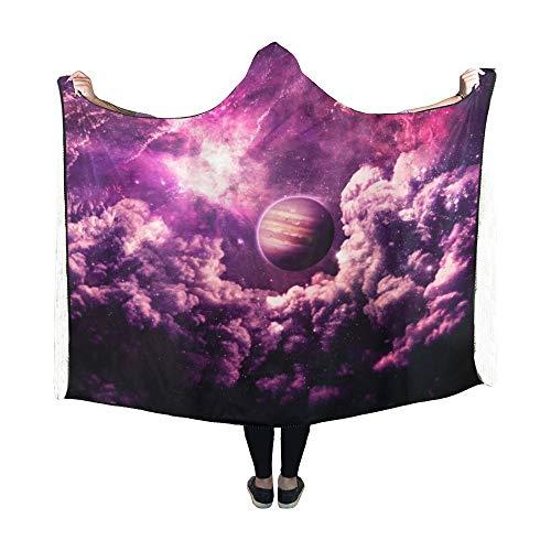 JOCHUAN Mit Kapuze Decke Dreamscape Galaxy Elements Dieses Bild Möblierte Decke 60x50 Zoll Comfotable Hooded Throw Wrap (Globe Bild)