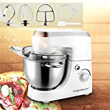 Aigostar Piccolo Mamma White 30HMA - Robot de cocina: Mezcladora, Amasadora, Batidora. Color blanco. Libre de BPA.