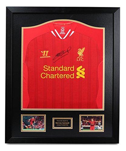 70c35a1dd Steven Gerrard Signed Shirt Framed Autograph Liverpool Jersey Memorabilia +  COA from Up North Memorabilia