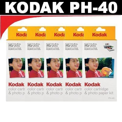 kodak-ph40-color-cartridge-photo-paper-kit-for-kodak-easyshare-printer-docks-5-packs-by-kodak