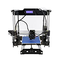 3D Printers Prusa i3 Auto Leveling Desktop 3D Printer DIY Kit Self-assembly Acrylic Frame LCD Screen Display + MK8 Extruder Nozzle + MAK3 Heatbed + 8GB SD Card, Printing Size 220*220*240 mm