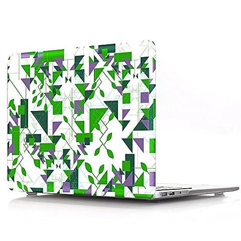 Proelife 2en 1Premium Ultra mince PC Coque rigide Housse de protection et d'une même Motif TPU solide Couvercle de clavier pour MacBook 30,5cm (modèle: A1534) Macbook 12'' Many Triangle