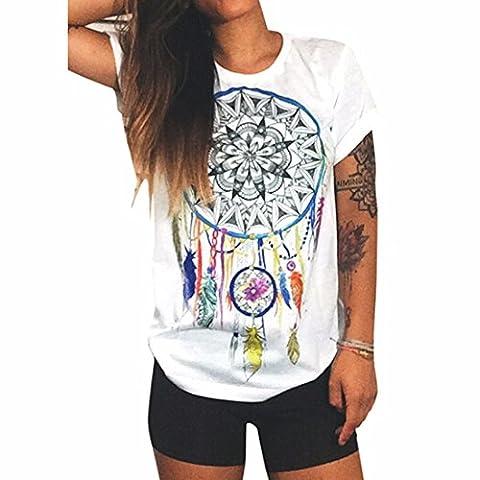 graffiti a manches courtes imprime colore manches courtes blanc tops blouses t-shirt tee