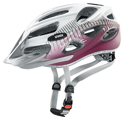 UVEX Erwachsene Fahrradhelm Onyx CC, White/Red Mat, 52-57 cm, 4145420715