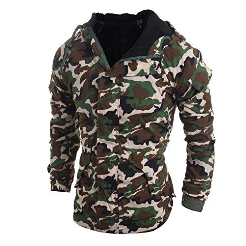 Herren Hoodie Xinan Herbst Winter Camouflage Wind Herren Kapuzen Jacke Bluse (M, Camouflage)