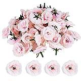 JNCH 50 Stücke Künstliche Blütenköpfe Blumen Köpfe Rosenköpfe Rosen Kopf