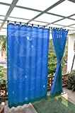 HIPPO Outdoor Curtains - Blue Colour - W...