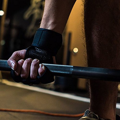 LEBBOULDER-Cross-Training-Gloves-With-Wrist-Support-For-WodsGym-WorkoutWeightlifting-Fitness-Silicone-Padding-No-Calluses-Suits-Men-Women-Weight-Lifting-Gloves-For-A-Strong-Grip-Meduim-Black