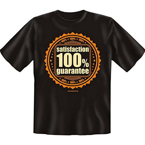 Spass T-Shirt Satisfaction 100% guarantee Fb schwarz Schwarz
