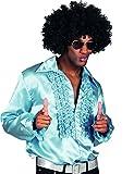 Chemise disco bleu clair homme XXL
