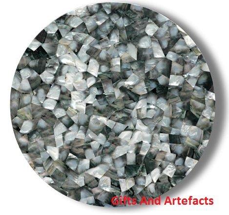 Mosaik-Kunst 121,9cm Durchmesser Weiß Marmor Terrasse Kaffee mit Home Decor Tisch Top