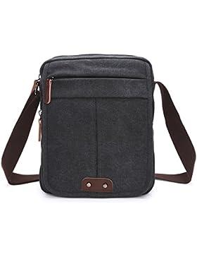 Outreo Vintage Umhängetasche Herren Taschen Canvas Schultertasche Herrentaschen Messenger Bag Kuriertasche für...