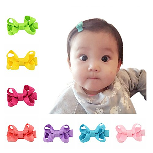 Infant-Baby-Girls-Hair-Bows-Clips-Hairpin-Barrettes-Set-Of-20-Colors