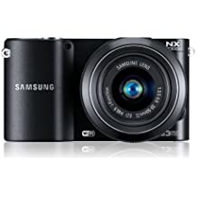 Samsung NX1100 Smart WiFi Digital Compact System Camera - Black (20.3MP, 20-50mm Lens Kit)