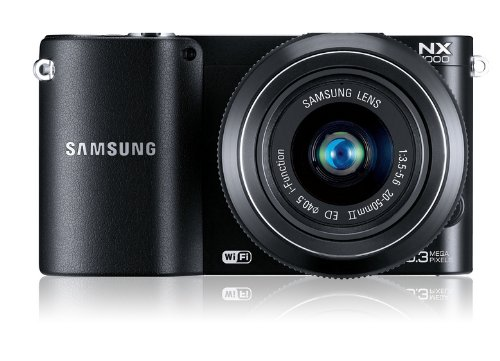 mkamera (20,3 Megapixel, 7,6 cm (3 Zoll) LCD-Display, Aufsteckblitz, HDMI, WiFi, USB 2.0) inkl. 20-50 mm i-Function Objektiv schwarz ()