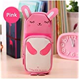 Pretty Pro Cute Rabbit Pink Pencil Case Pouch Box Bag for Kids Students Office