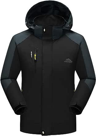 YSENTO Mens Lightweight Waterproof Jacket Windproof Outdoor Camping Hiking Mountain Jacket Coat with Hood